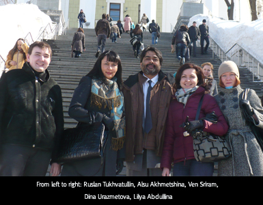 Ven Sriram along with Russian colleagues.
